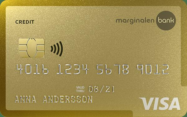 Kreditkort Marginalen Gold